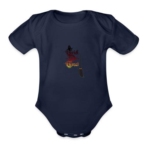 trick or treat 6 - Organic Short Sleeve Baby Bodysuit