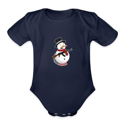PRODBYSNOWMAN - Organic Short Sleeve Baby Bodysuit