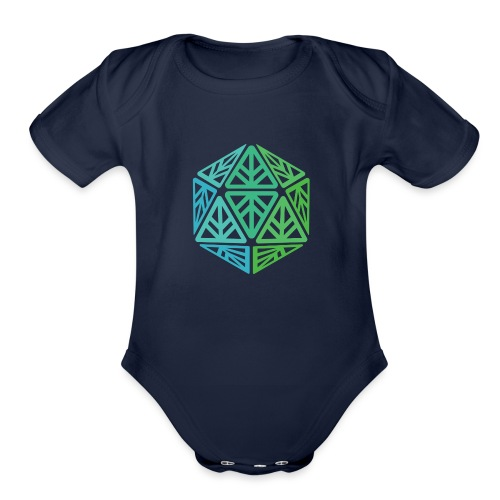 Green Leaf Geek Iconic Logo - Organic Short Sleeve Baby Bodysuit