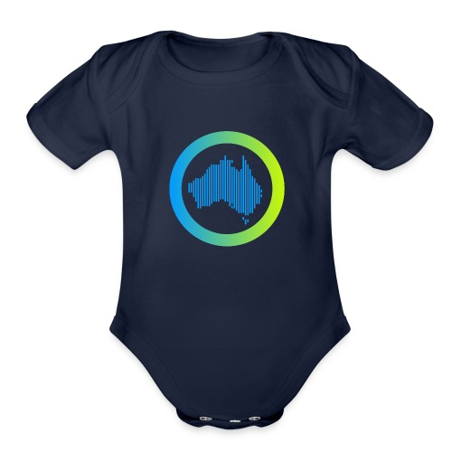 Gradient Symbol Only - Organic Short Sleeve Baby Bodysuit