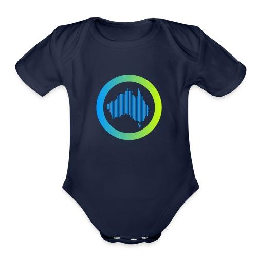 Gradient Symbol Only - Organic Short Sleeve Baby Bodysuit
