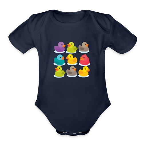 More rubber ducks to the people! - Organic Short Sleeve Baby Bodysuit