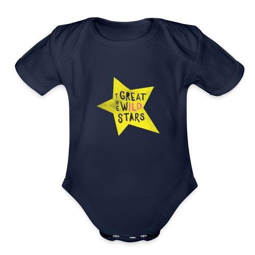 GWS: Classic Logo, Yellow - Organic Short Sleeve Baby Bodysuit