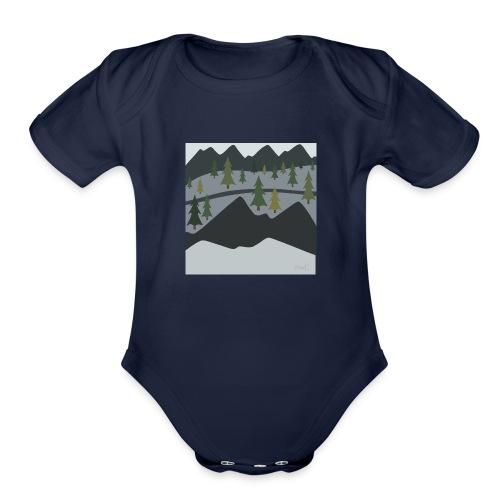 Scenic View - Organic Short Sleeve Baby Bodysuit