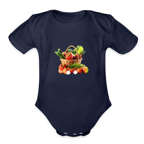 Vegetable transparent - Organic Short Sleeve Baby Bodysuit