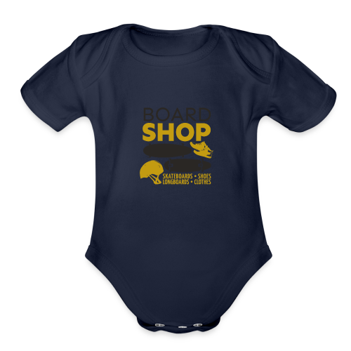 design-11 - Organic Short Sleeve Baby Bodysuit