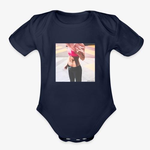 Fitness Model - Organic Short Sleeve Baby Bodysuit