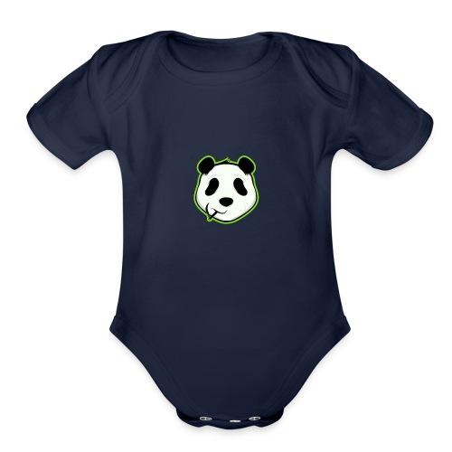 Stoner panda - Organic Short Sleeve Baby Bodysuit