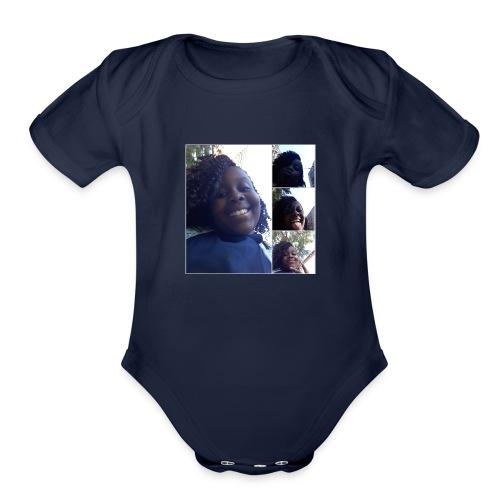 nissi's world - Organic Short Sleeve Baby Bodysuit