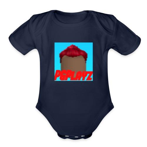 PGPlayz Sharp with Text - Organic Short Sleeve Baby Bodysuit