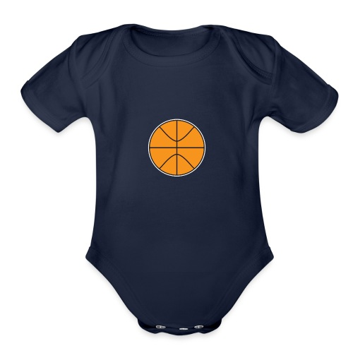 Plain basketball - Organic Short Sleeve Baby Bodysuit