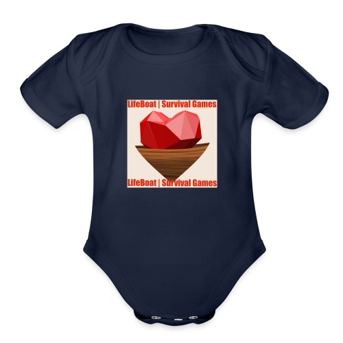 LifeBoat Custom Logo - Organic Short Sleeve Baby Bodysuit