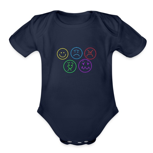 Emotional Gridlock - Organic Short Sleeve Baby Bodysuit