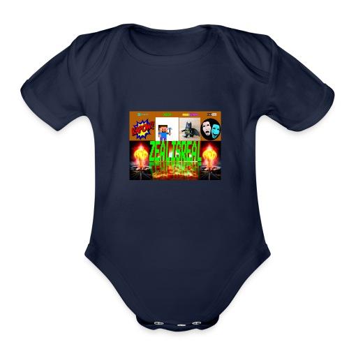 ZealisReal Banner - Organic Short Sleeve Baby Bodysuit