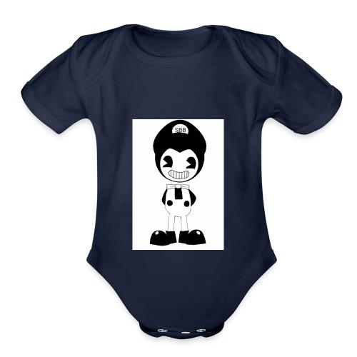 SuperBendyBros Design - Organic Short Sleeve Baby Bodysuit