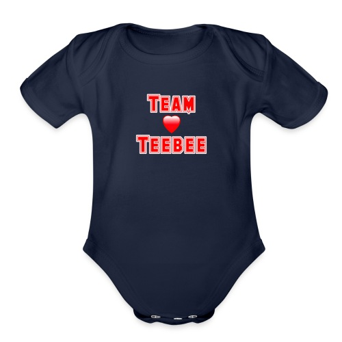 Love Team Teebee - Organic Short Sleeve Baby Bodysuit