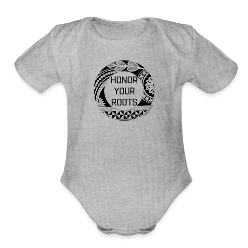Honor Your Roots (Black) - Organic Short Sleeve Baby Bodysuit