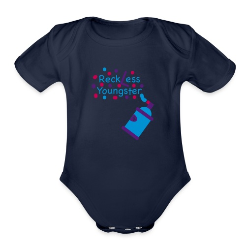 reckless youngster boys - Organic Short Sleeve Baby Bodysuit