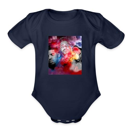 Black T-Shirt Drake Kendrick J.Cole - Organic Short Sleeve Baby Bodysuit