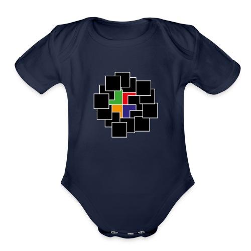 cubes - Organic Short Sleeve Baby Bodysuit