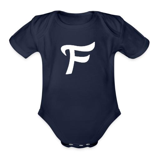 Fewn White Logo - Organic Short Sleeve Baby Bodysuit