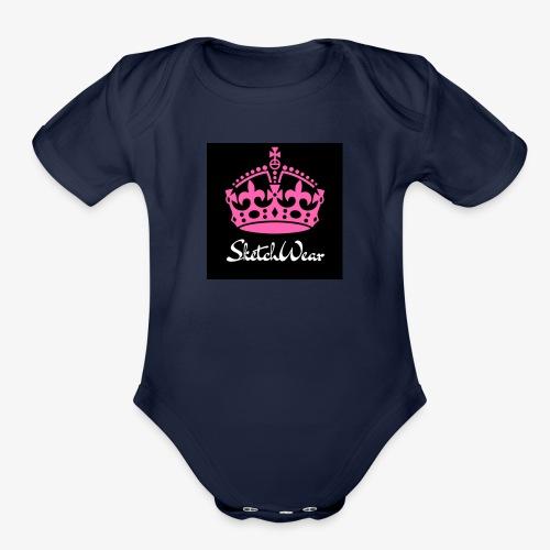Boucher Fashion Logo - Organic Short Sleeve Baby Bodysuit