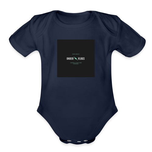 UNDER VLOGS - Organic Short Sleeve Baby Bodysuit