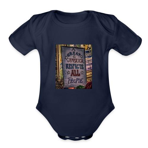 A Great America - Organic Short Sleeve Baby Bodysuit