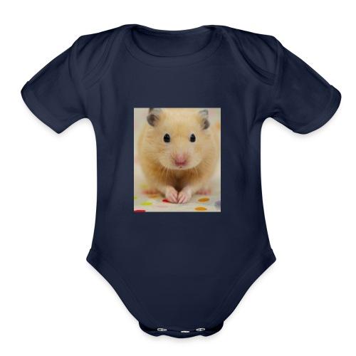 My little hamster world - Organic Short Sleeve Baby Bodysuit