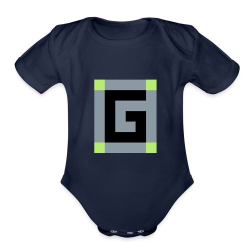 Official G Logo vector Image - Organic Short Sleeve Baby Bodysuit