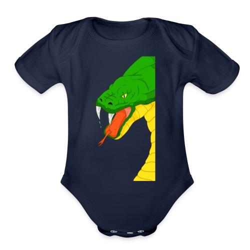 Cool snake - Organic Short Sleeve Baby Bodysuit