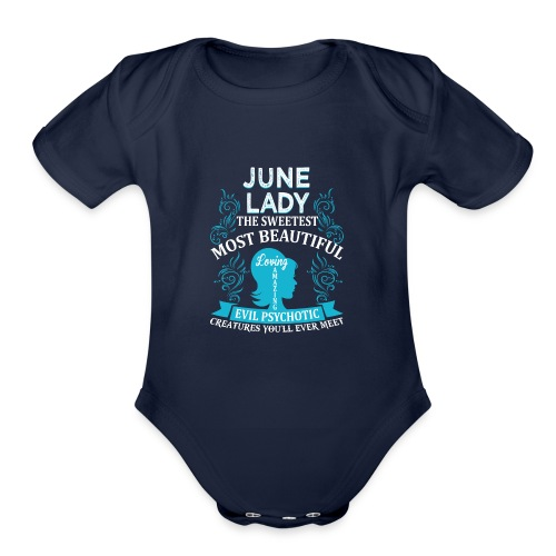 June lady - Organic Short Sleeve Baby Bodysuit