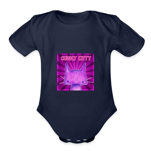 CuddlyKitty Picture - Organic Short Sleeve Baby Bodysuit