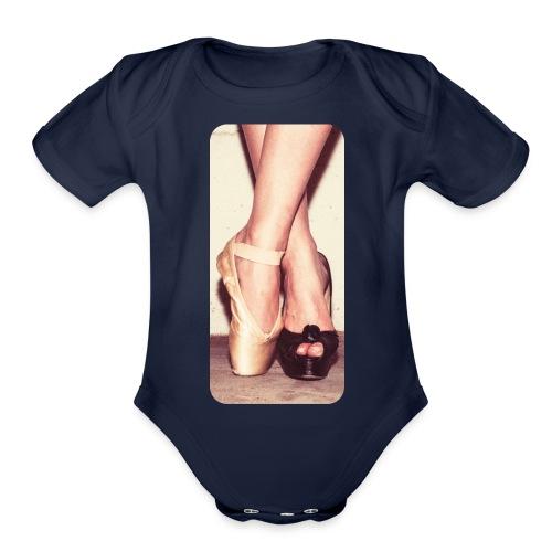 iphone507 - Organic Short Sleeve Baby Bodysuit