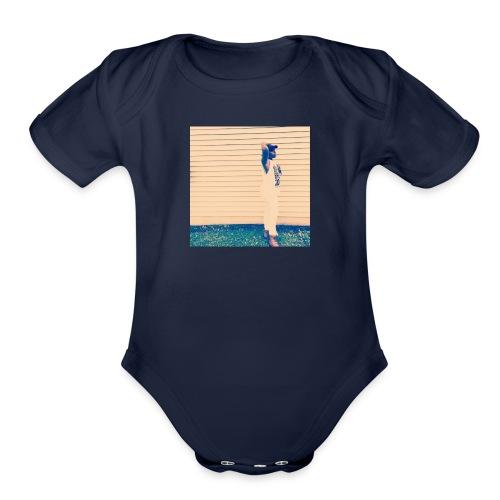 Supermodel 1 Hoodie - Organic Short Sleeve Baby Bodysuit