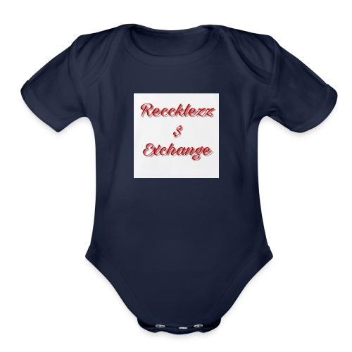 Reccklezz Exchange red - Organic Short Sleeve Baby Bodysuit