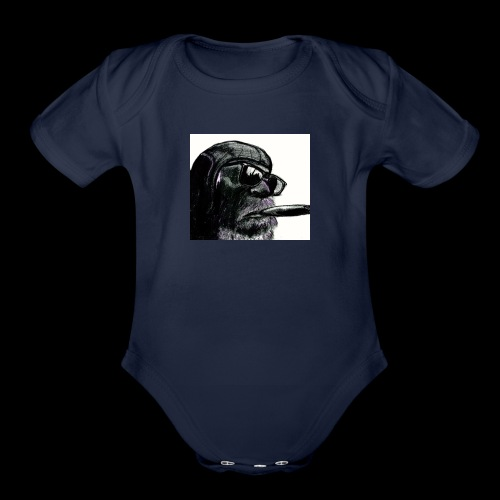 Aviator Monky - Organic Short Sleeve Baby Bodysuit