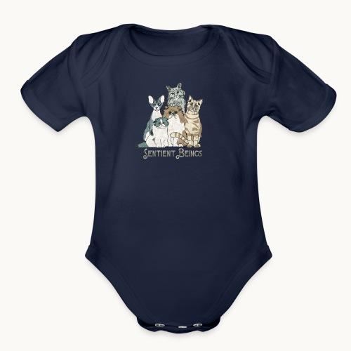 CATS - SENTIENT BEINGS - Carolyn Sandstrom - Organic Short Sleeve Baby Bodysuit
