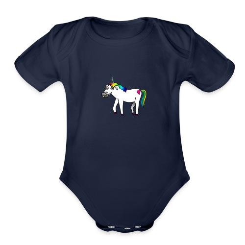 A magical Unicorn! - Organic Short Sleeve Baby Bodysuit