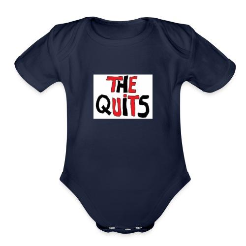 quits logo - Organic Short Sleeve Baby Bodysuit