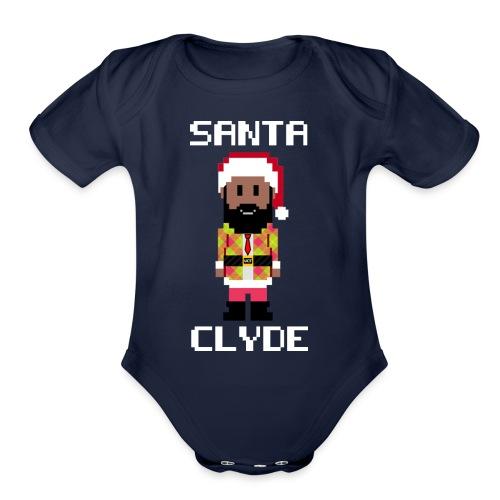 Santa Clyde So Fly (8-Bit) - Organic Short Sleeve Baby Bodysuit