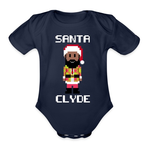 Santa Clyde So Fly (8-Bit) - Organic Short Sleeve Baby Bodysuit