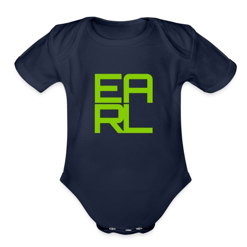 earl_logo - Organic Short Sleeve Baby Bodysuit