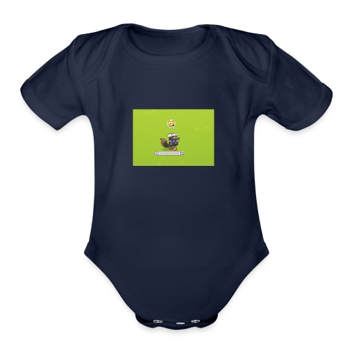 Awesomecoolkawaii emote shirt - Organic Short Sleeve Baby Bodysuit
