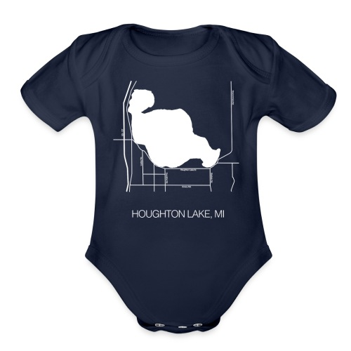 Houghton Lake, MI - Organic Short Sleeve Baby Bodysuit