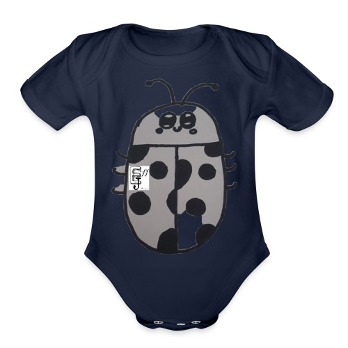 Lady Bug Cometh - Organic Short Sleeve Baby Bodysuit