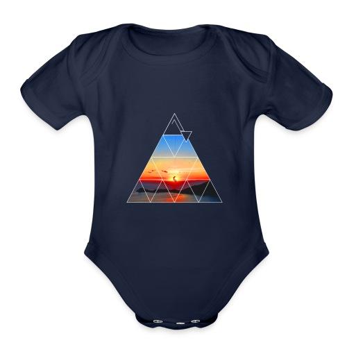 Climber in the sunset - Organic Short Sleeve Baby Bodysuit