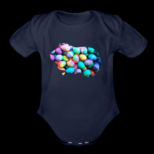 Easter Egg Guinea Pig - Organic Short Sleeve Baby Bodysuit