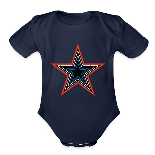 Roanoke Virginia Pride Mill Mountain Star - Organic Short Sleeve Baby Bodysuit