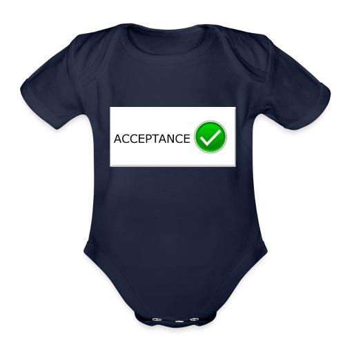 accpetnace_logo - Organic Short Sleeve Baby Bodysuit